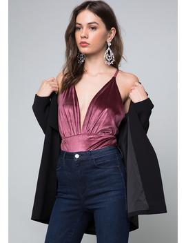 Cara Velvet Bodysuit by Bebe
