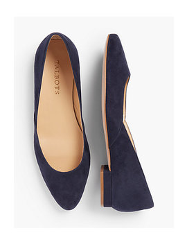 Edison Flats  Suede by Talbots