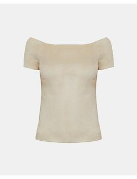 Stretch Suede Ballet Top by Theory