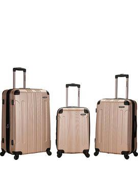 London 3 Piece Hardside Spinner Luggage Set by Rockland Luggage