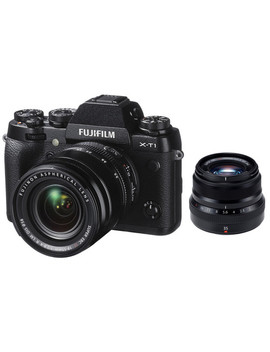 X T1 Mirrorless Digital Camera With 18 55mm And 35mm Lenses Kit (Black) by Fujifilm