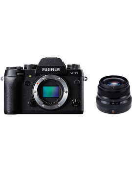 X T1 Mirrorless Digital Camera With 35mm F/2 Lens Kit (Black) by Fujifilm