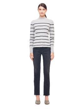 La Vie Striped Cotton Pullover by Rebecca Taylor