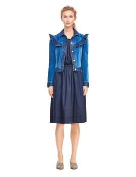 La Vie Velvet & Denim Jacket by Rebecca Taylor
