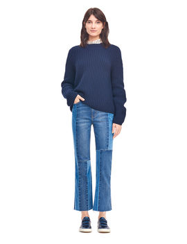 La Vie Ribbed Mock Neck Pullover by Rebecca Taylor