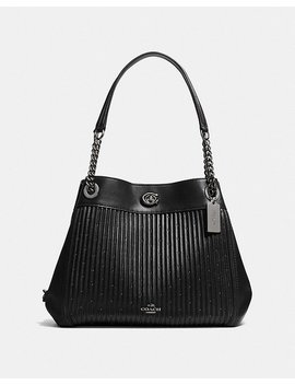 Turnlock Edie Shoulder Bag With Quilting by Coach