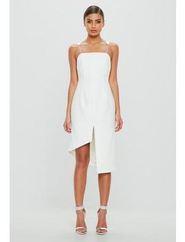 peace-+-love-white-lowback-split-slip-dress by missguided
