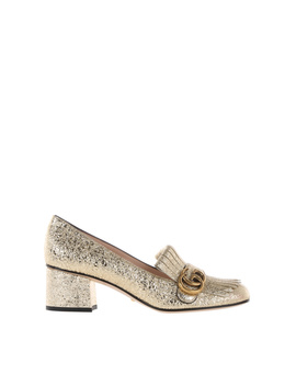 Gucci Women's  Gold Leather Heels by Gucci