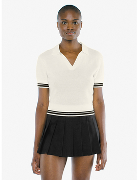 Mesh Knit Tennis Shirt by American Apparel