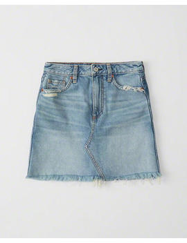 Two Tone Denim Mini Skirt by Abercrombie & Fitch
