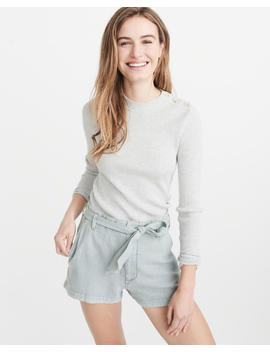 Button Mock Sweater by Abercrombie & Fitch
