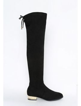 Pearl Over The Knee Boot by Alloy