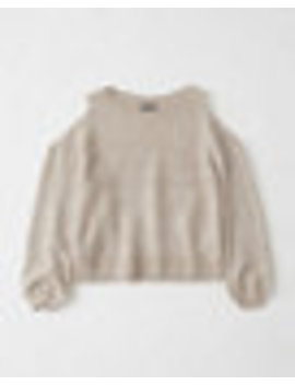 Cold Shoulder Puff Sleeve Sweater by Abercrombie & Fitch