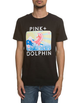 The Blossom Portrait Tee In Black by Pink Dolphin