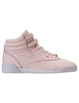 Girls' Grade School Reebok Freestyle Hi Muted Casual Shoes by Reebok