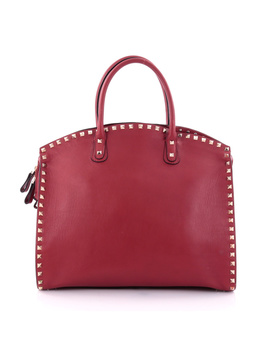 Pre Owned: Rockstud Convertible Dome Tote Leather by Valentino