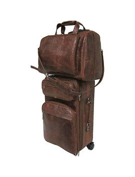 Leather Two Piece Set Traveler by Ameri Leather