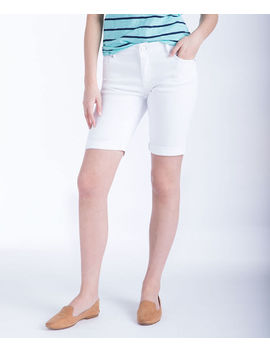 White Denim Bermuda Short by Ricki's