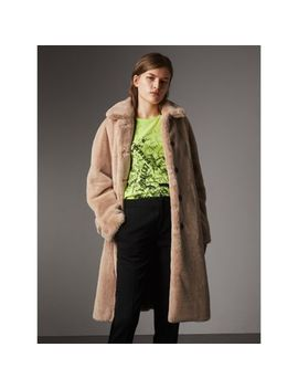 Faux Fur Single Breasted Car Coat by Burberry