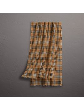 Vintage Check Lightweight Wool Silk Scarf by Burberry
