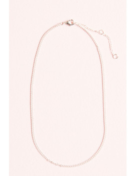Bright Silver Chain Necklace by Brandy Melville