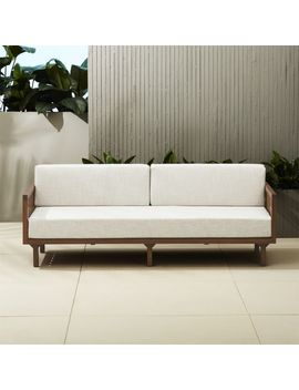Tropez Natural Sofa by Crate&Barrel