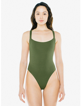 2x2 Thick Strap Thong Bodysuit by American Apparel