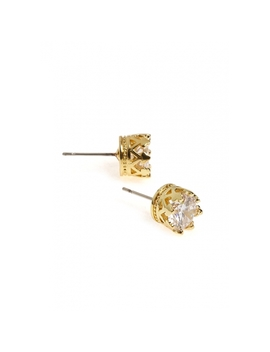 Crown Stud Earrings In Gold by Wet Seal