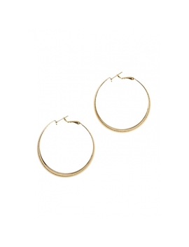 Etched Hoop Earrings In Gold by Wet Seal
