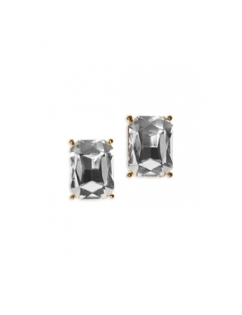 Rectangular Stud Drop Earrings In Gold Tone by Wet Seal