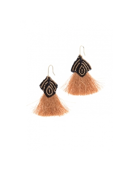 Beaded Earrings In Brown by Wet Seal