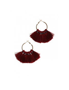 Tassel Earrings In Gold by Wet Seal