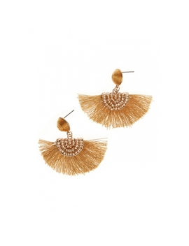 Drop Beaded Earrings In Gold by Wet Seal