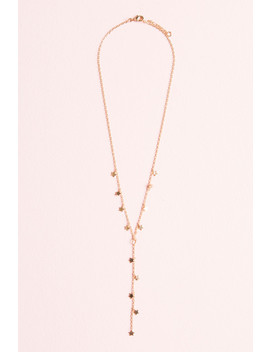 Gold Star Drop Necklace by Brandy Melville