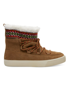 Toffee Suede Women's Alpine Boots by Toms