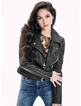Valencia Paneled Faux Leather Jacket by Guess