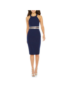 Rebecca B Sleeveless Applique Bodycon Dress by Rebecca B