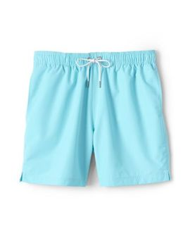 "Men's 6"" Solid Volley Swim Trunks by Lands' End"