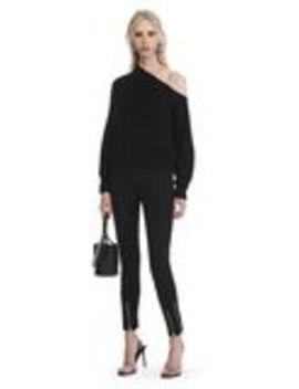 Super Stretch Cotton Pants With Ankle Zippers by Alexander Wang