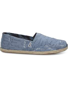 Oceana Blue Migration Route Men's Classics by Toms