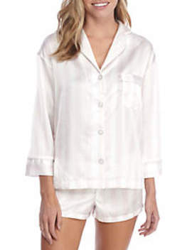 Notch Collar Striped Pajama Set by Sam Edelman