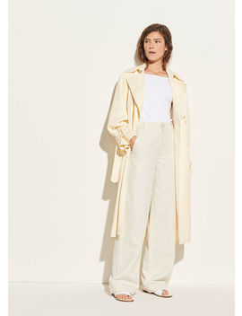 Drapey Satin Trench by Vince