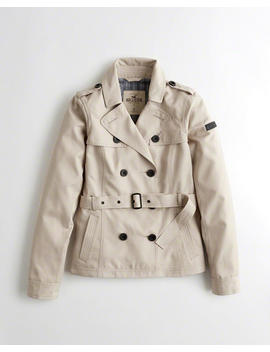Belted Trench Jacket by Hollister