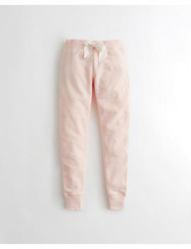 Logo Fleece Leggings by Hollister