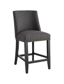 Charcoal Counter Stool by Corinne Collection