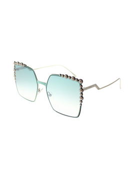 Can Eye Ff 0259 1ed Green Square Sunglasses by Fendi
