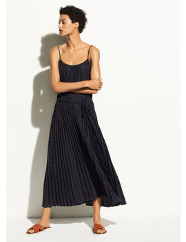 Polka Dot Pleated Cami Dress by Vince