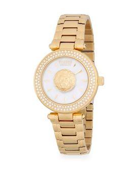 Logo Stainless Steel Bracelet Watch by Versace