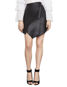 Yulissa Pleather Faux Wrap Skirt by Bcbgmaxazria