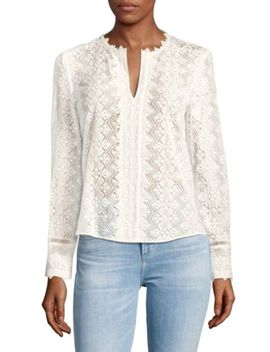Long Sleeve Ivy Vine Silk Cotton Top by Rebecca Taylor